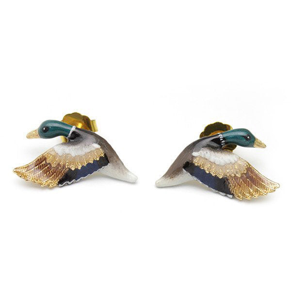 Mallard Duck Earrings // Ballerine Bird