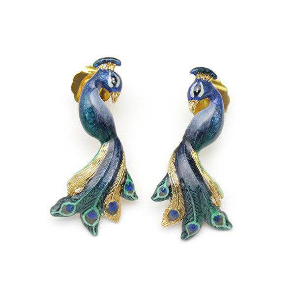 Peacock Earrings | BALLERINE BIRD