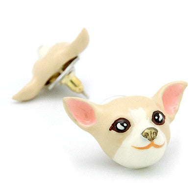 Creamy Chihuahua Earrings