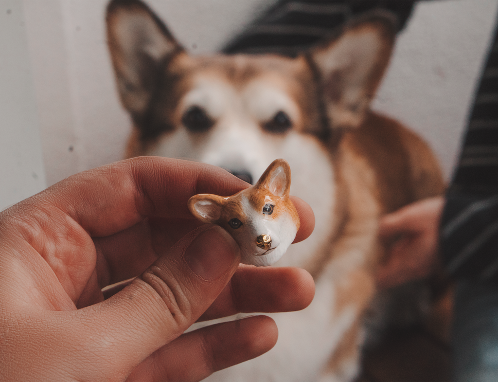 Latte Corgi Ring