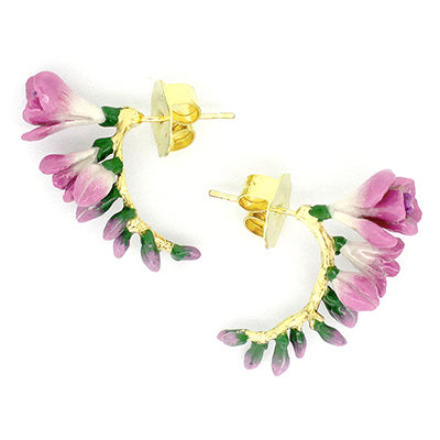 Freesia Hoop Earrings