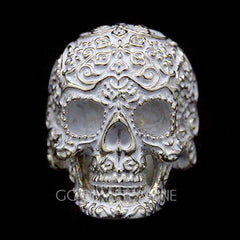 Filigree Skull Gold Ring