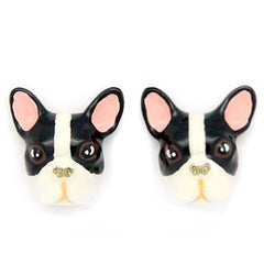 French Bulldog Earrings B&W | DOGS