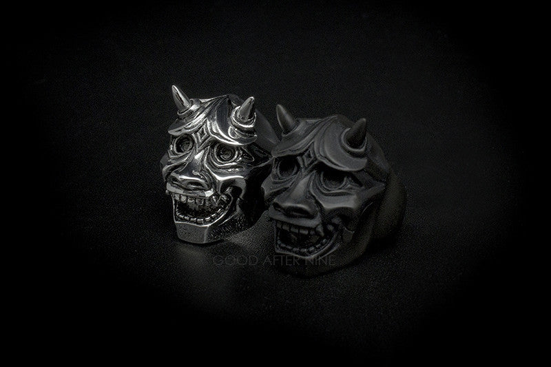 Hannya Devils Ring Black