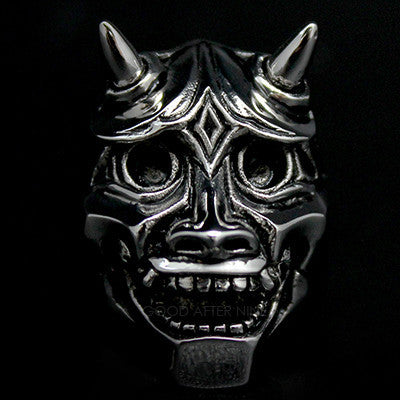 Hannya Devils Ring Silver | ANCIENT STORY