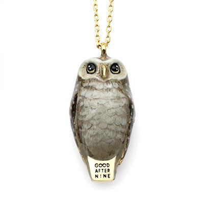 Happy Spotted Owl Whistle Necklace