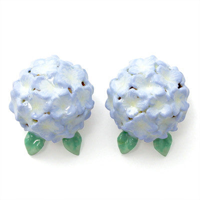 Hydrangea Purple Earrings