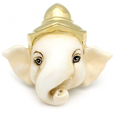 Little Ganesha White Ring | MYTHERY