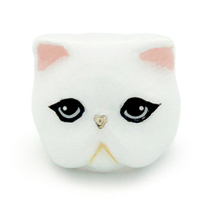 Jumpee White Persian Cat Ring | CATS