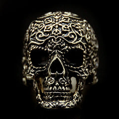 Filigree Skull Gold-Black Ring