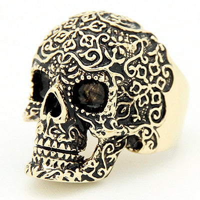 Filigree Skull Gold-Black Ring | FILIGREE SKULL