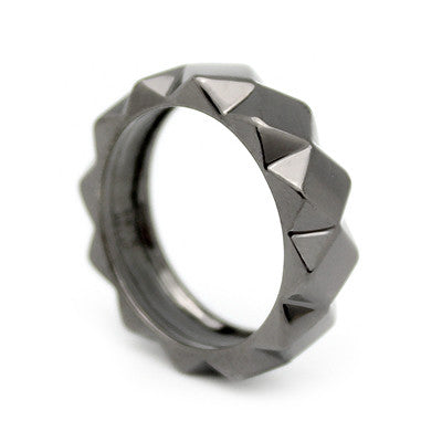 Ballad of Pyramid Ring Slim Black | BALLAD OF PYRAMID