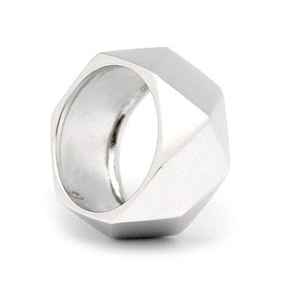 Ballad of Pyramid Thick Silver Ring