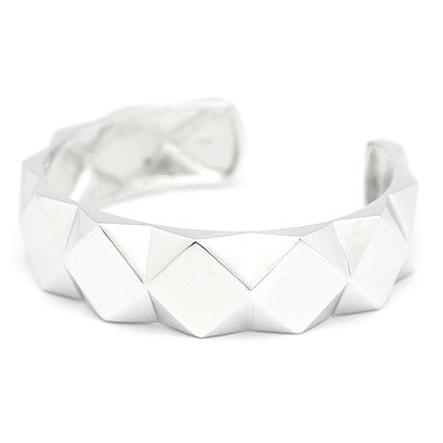 Ballad of Pyramid Thick Silver Bangle