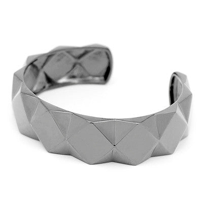 Ballad of Pyramid Thick Black Bangle