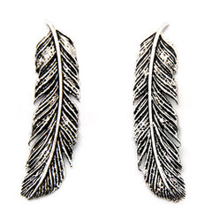 Feather Earrings Silver | FEATHER