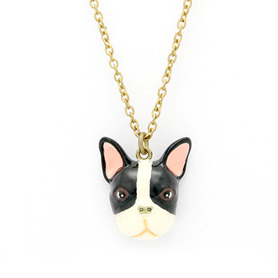 French Bulldog B&W Necklace | DOGS