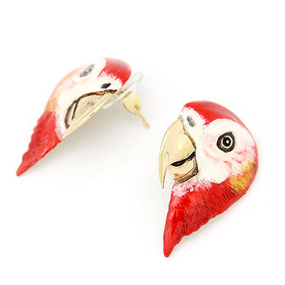 Scarlet Macaw Earrings