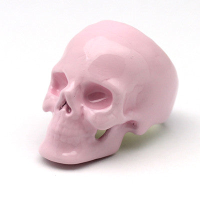 Pantone Rose Quartz Skull Ring
