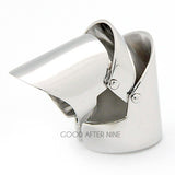 Knight Armor Ring Silver