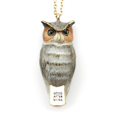 Merry Great Horned Owl Whistle Necklace | MOONLIGHT VALLEY
