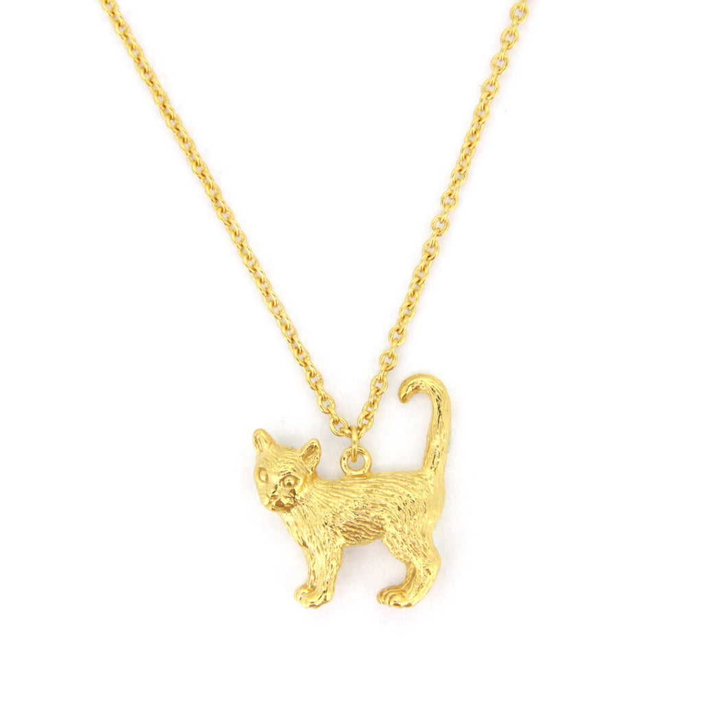 Murmur Standing Cat Necklace 925 Sterling Silver