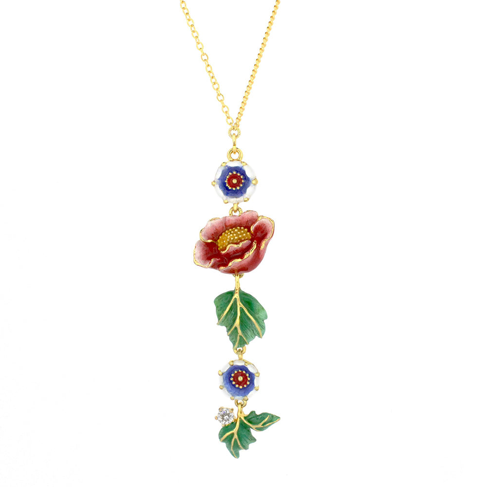 Orient Romance Tiger Butterfly Necklace