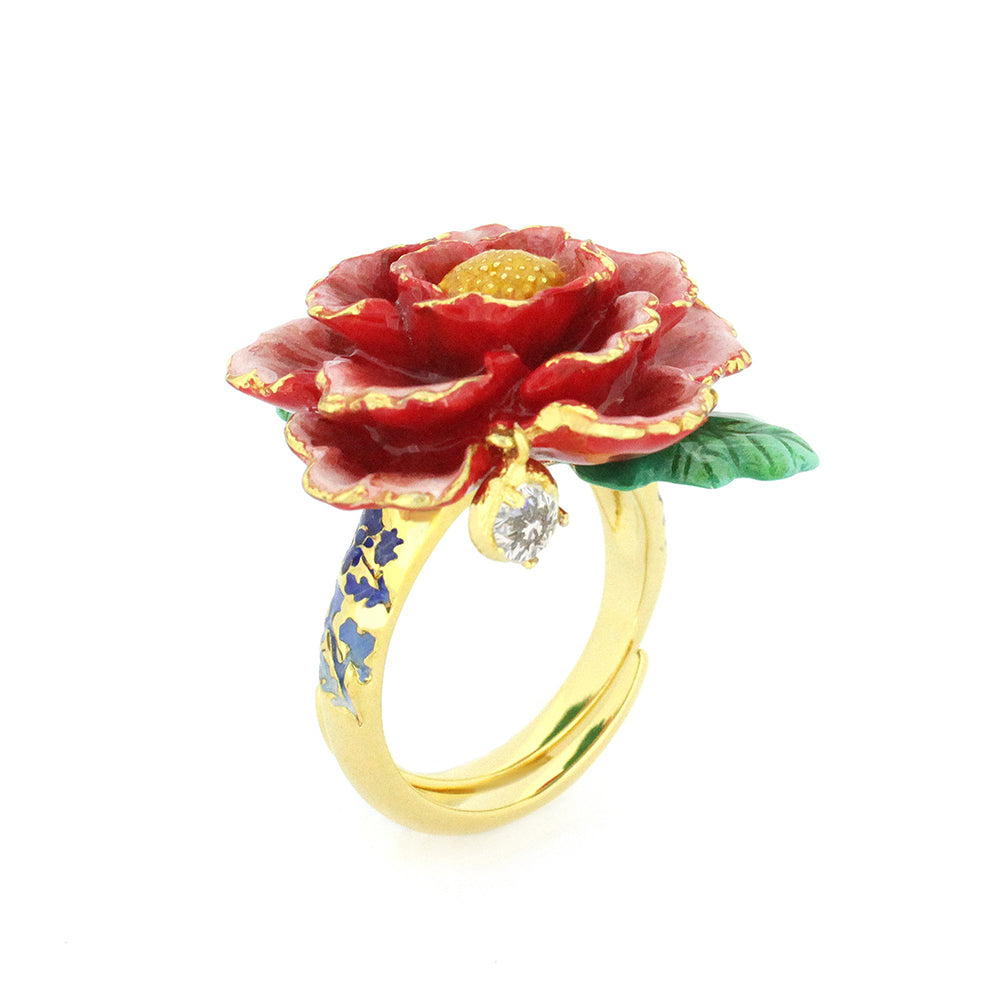 Orient Romance Love Flower Ring