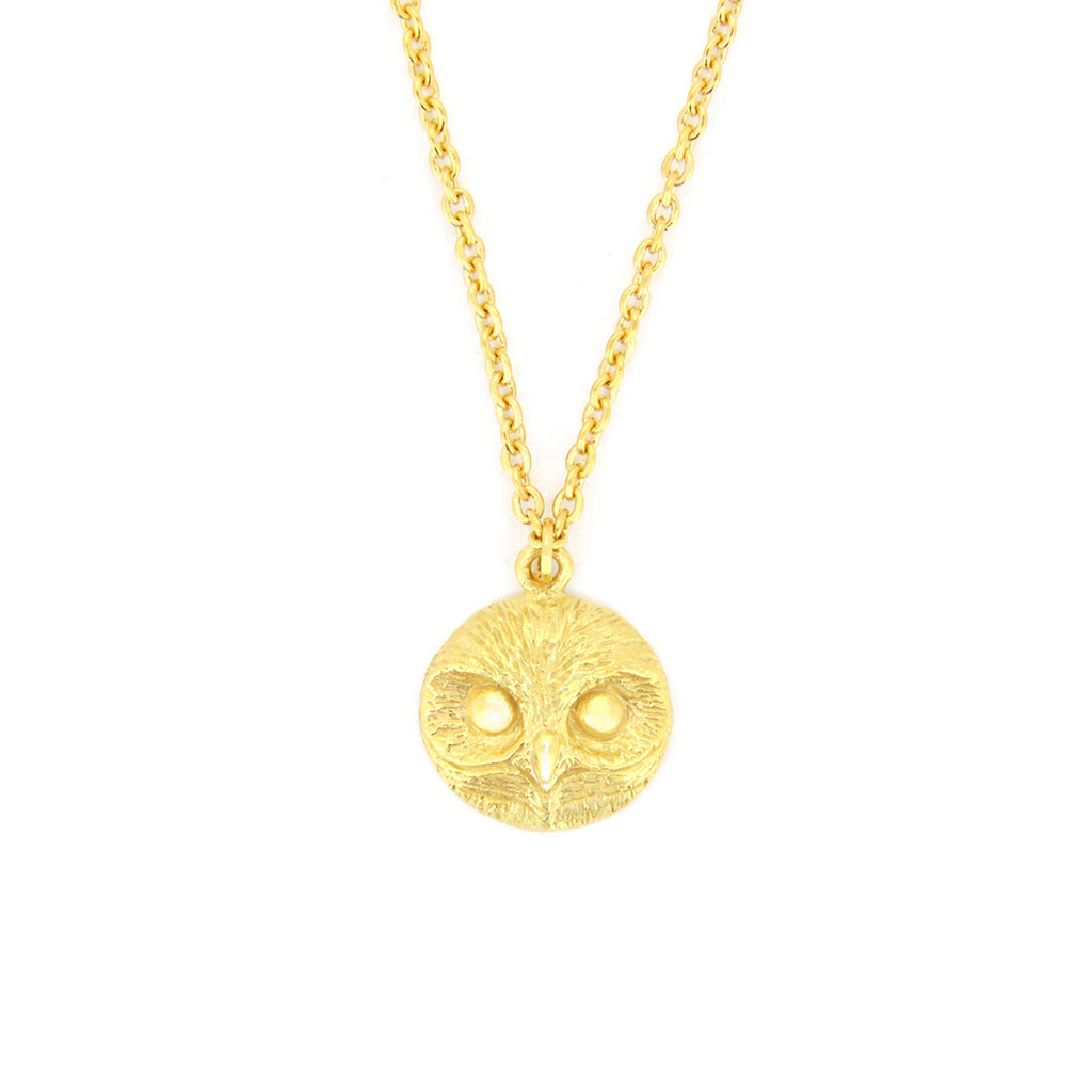 Happy Spotted Owl Necklace 925 Sterling Silver