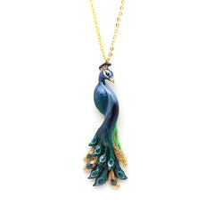 Peacock Necklace // Ballerine Bird