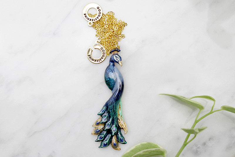 Peacock Necklace | BALLERINE BIRD