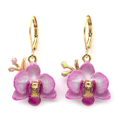 Phalaen Purple Earrings