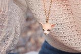 Creamy Chihuahua Necklace | DOGS