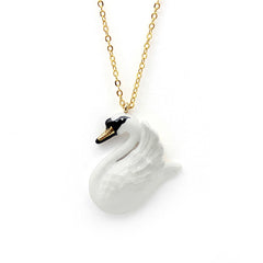 Swan Necklace // Ballerine Bird