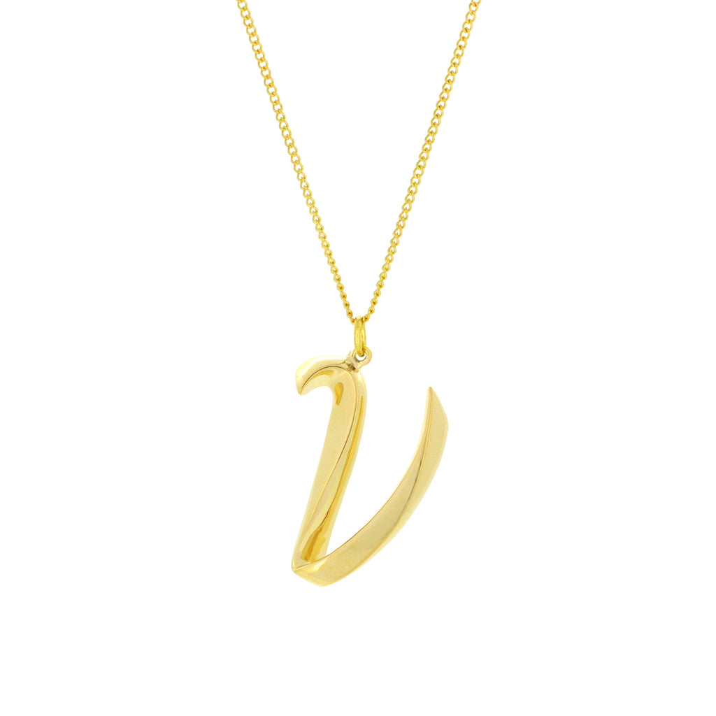Alphabet V Necklace