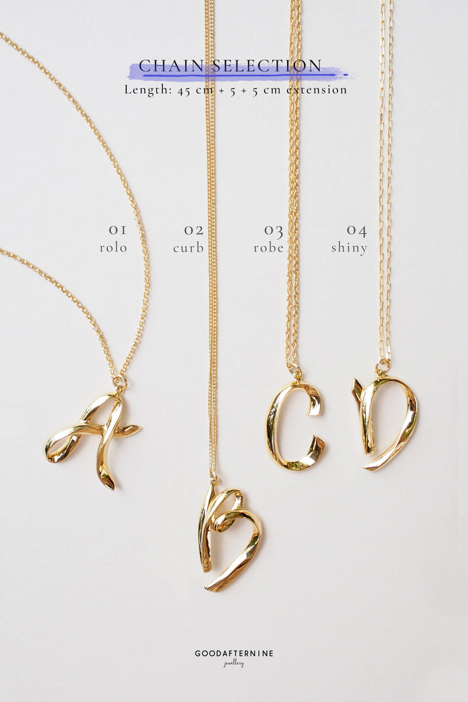Alphabet K Necklace