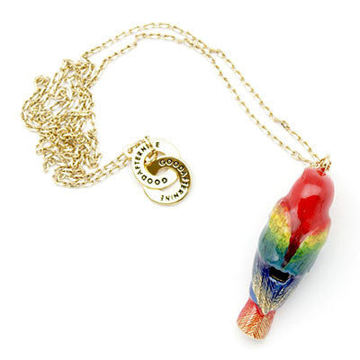 Scarlet Macaw Whistle Necklace