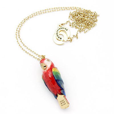 Scarlet Macaw Whistle Necklace | SKY DANCER