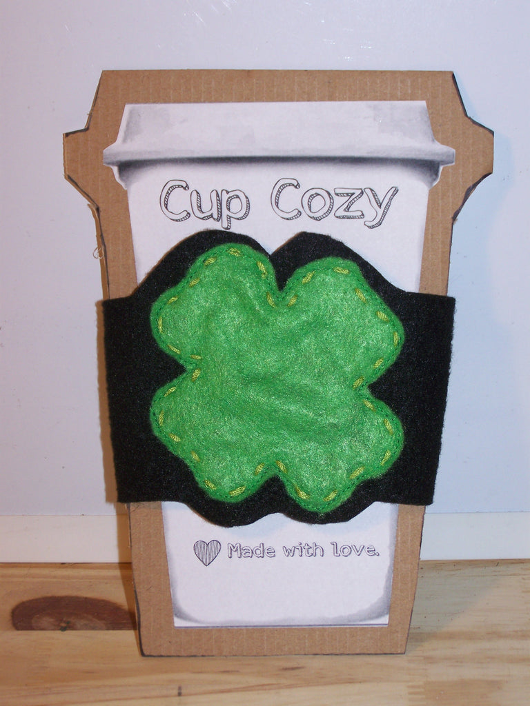March Featured Product:  Four-Leaf Clover Cup Cozy
