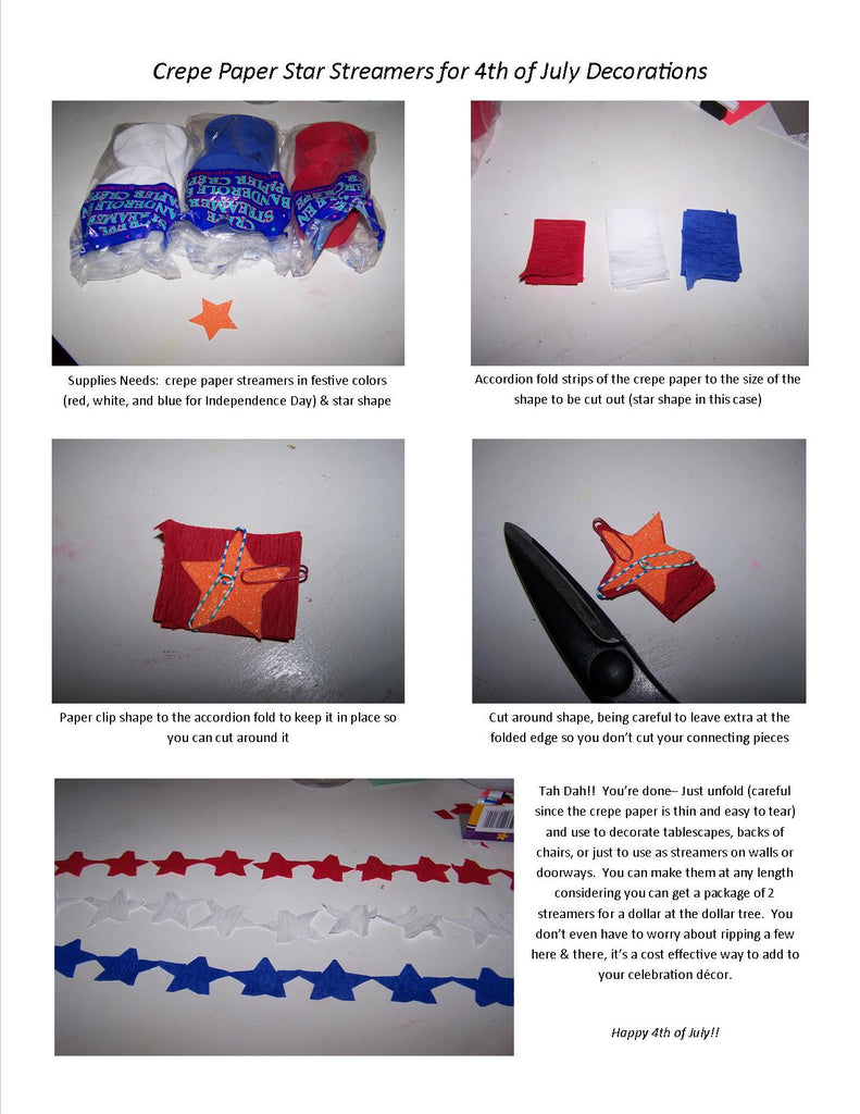 Crepe Paper Star Streamers