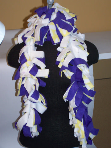 "62"" Fleece Scarf (Purple/Yellow)"