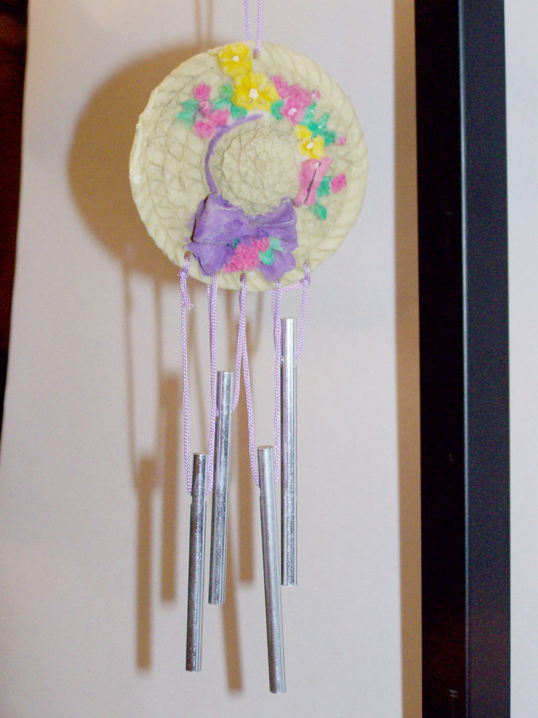 Hat Wind Chime (Purple Bow)