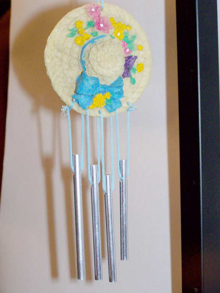 Hat Wind Chime (Blue Bow)