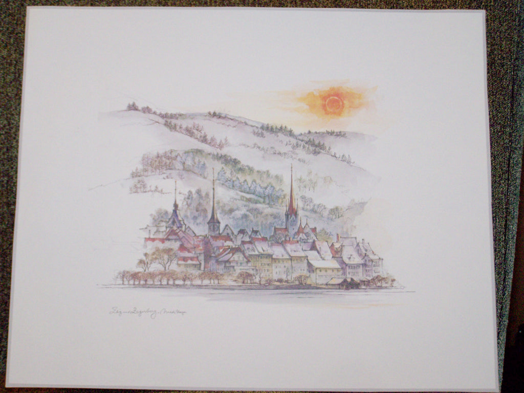 German Town Drawing