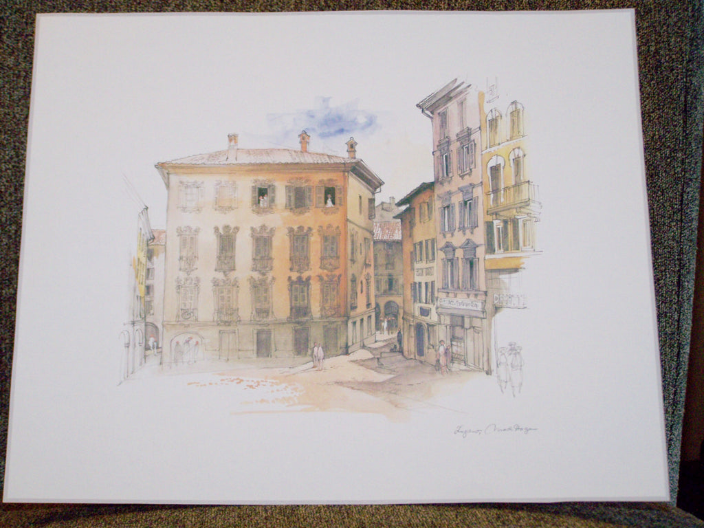 European City Square Drawing