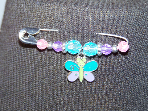 butterfly pin (various bead colors)