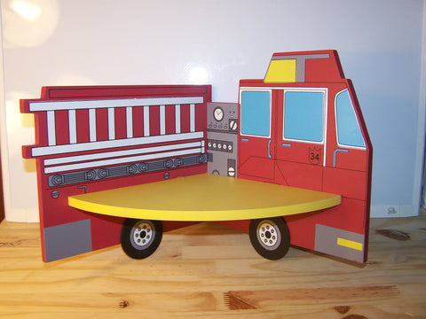 Fire Engine Corner Shelf