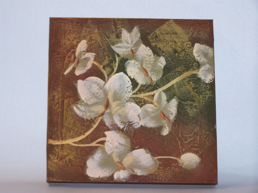 Flower Canvas (Brown)