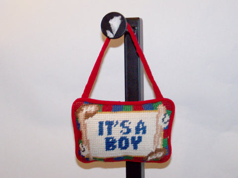 It's a Boy Hanging Pillow