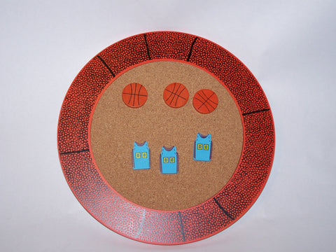 Basketball Corkboard w/Pushpins